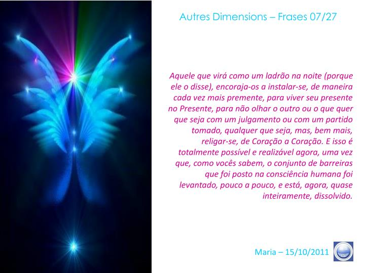 Autres Dimensions – Frases 07/27