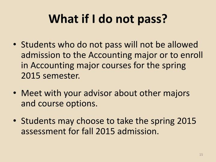 What if I do not pass?