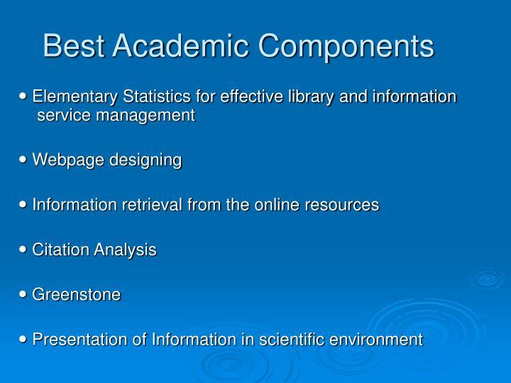 Best Academic Components