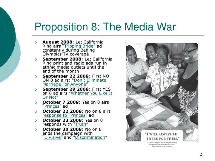 Proposition 8 the media war