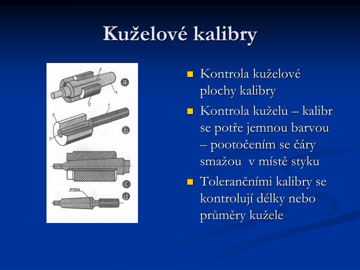 Kuželové kalibry