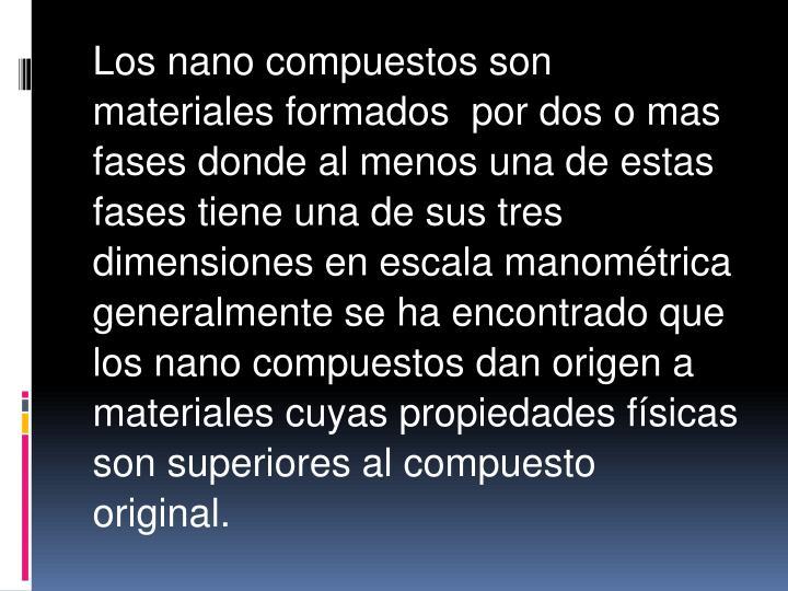 Los nano compuestos son