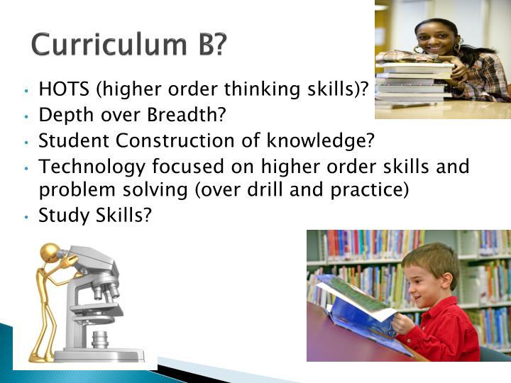 Curriculum B?