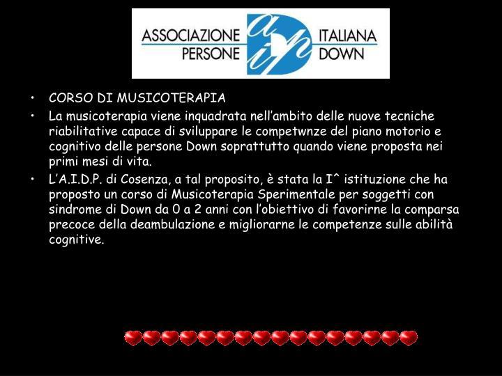 CORSO DI MUSICOTERAPIA