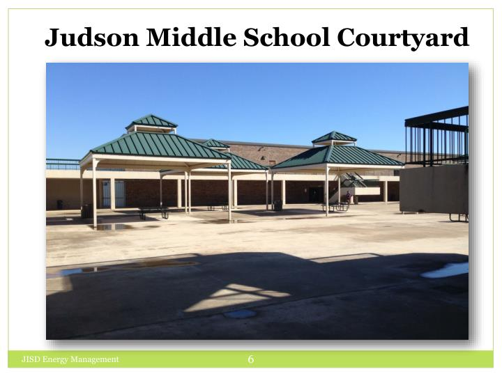 Judson Middle School Courtyard