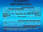 elementi metodologici
