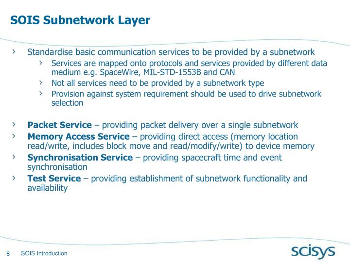 SOIS Subnetwork Layer