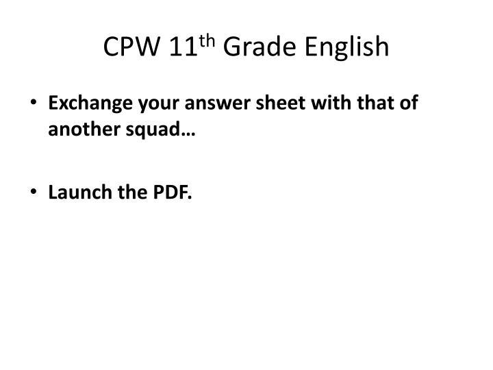 CPW 11