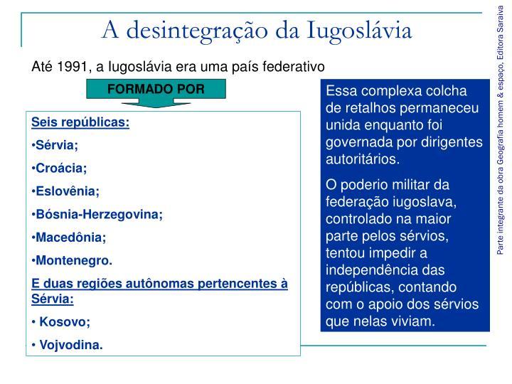 A desintegração da Iugoslávia