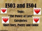 eso3 and eso4