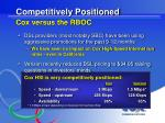 competitively positioned cox versus the rboc