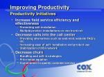 improving productivity productivity initiatives