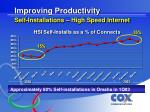 improving productivity self installations high speed internet