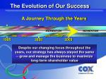 the evolution of our success5