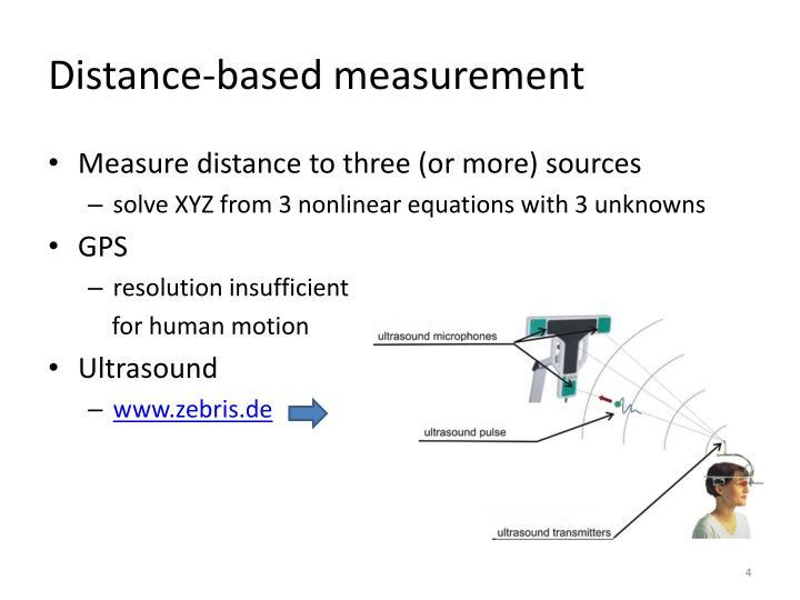 Distance-based measurement