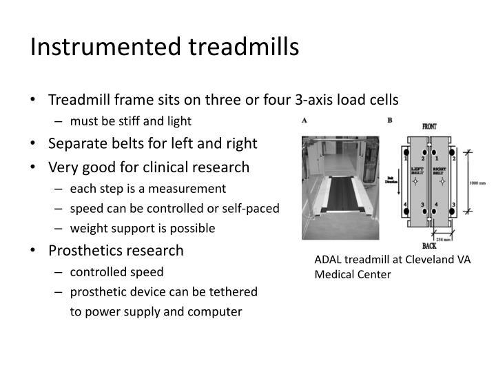 Instrumented treadmills