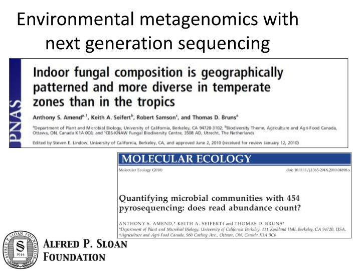 Environmental metagenomics with next generation sequencing