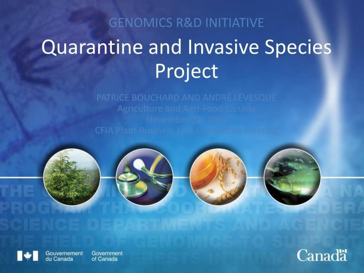GENOMICS R&D INITIATIVE