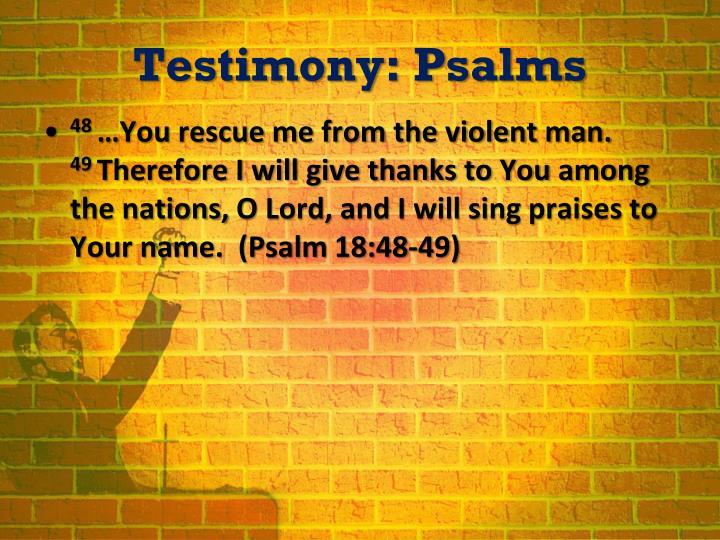 Testimony psalms