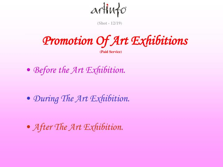 Before the Art Exhibition.
