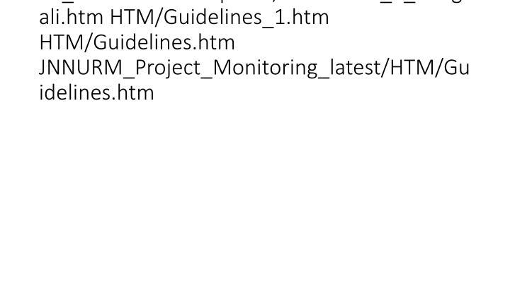 vti_backlinkinfo:VX|HTM/Guidelines_1_bengali.htm HTM/Guidelines_1.htm HTM/Guidelines.htm JNNURM_Project_Monitoring_latest/HTM/Guidelines.htm
