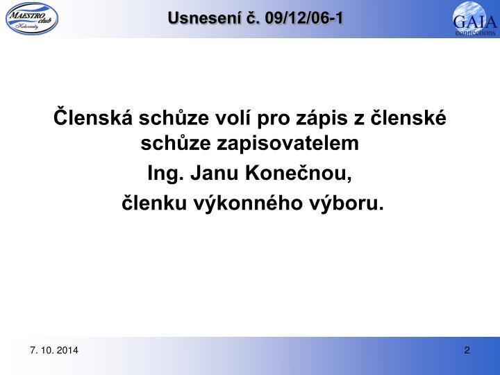 Usnesen 09 12 06 1