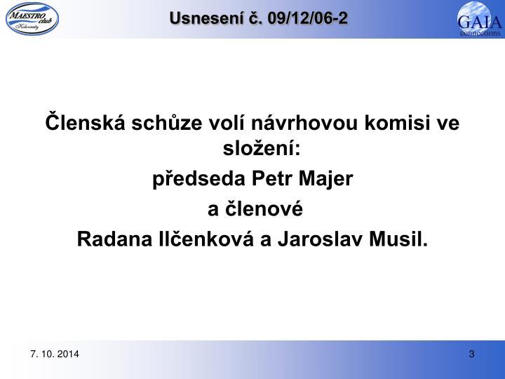 Usnesen 09 12 06 2