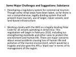 some major challenges and suggestions substance