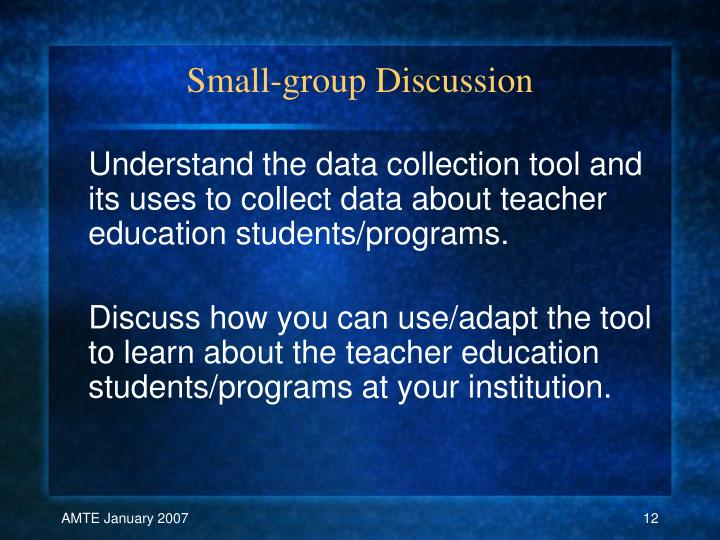 Small-group Discussion