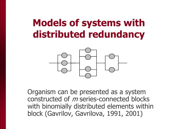 Models of systems with distributed redundancy