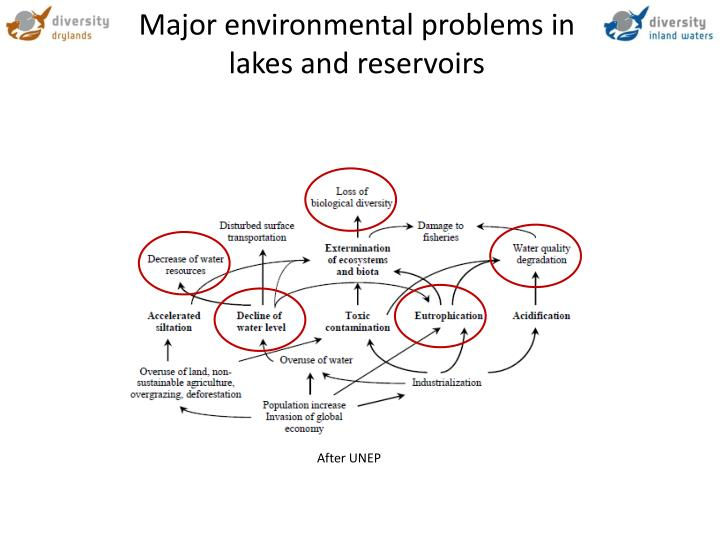 Major environmental problems in lakes and reservoirs