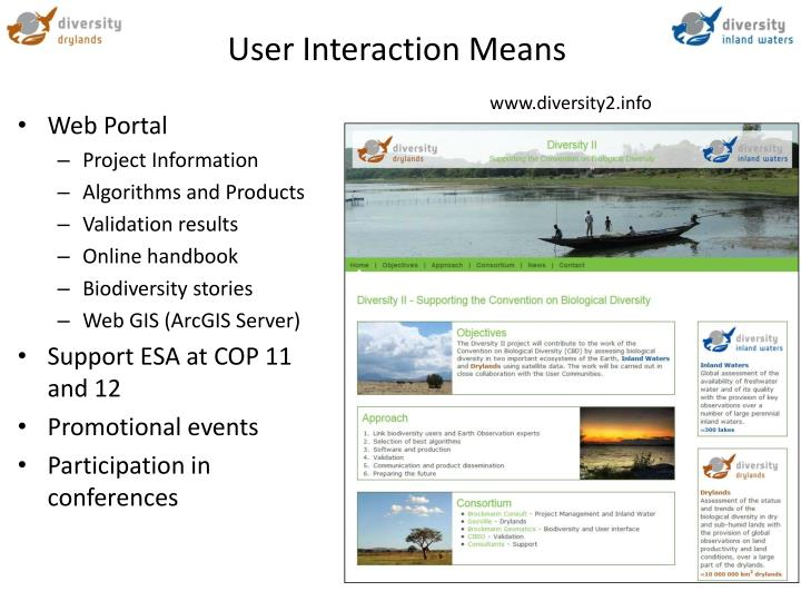 User Interaction Means