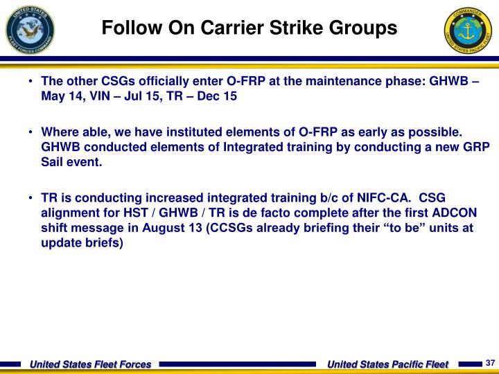 Follow On Carrier Strike Groups