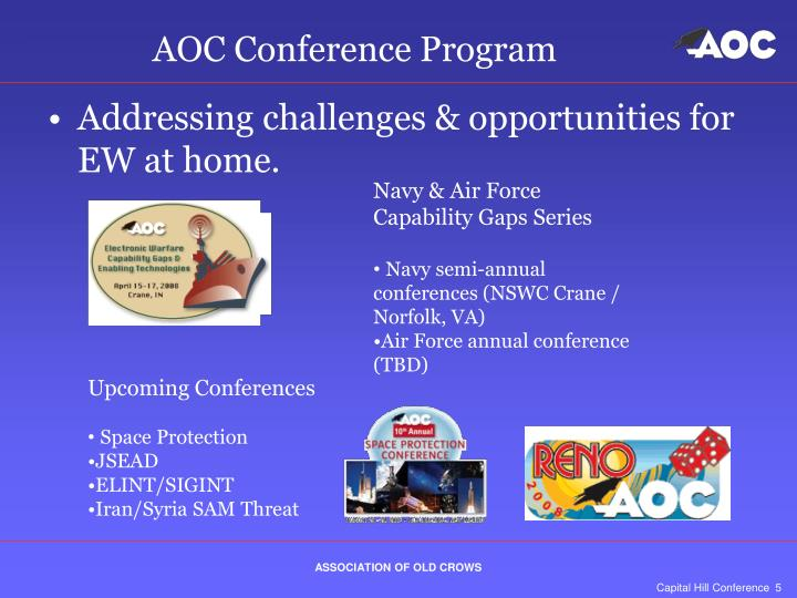 AOC Conference Program