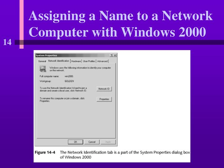 Assigning a Name to a Network Computer with Windows 2000