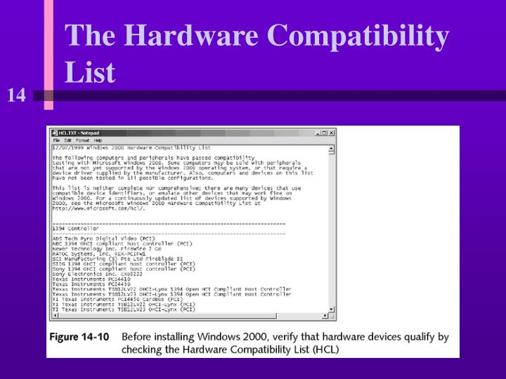 The Hardware Compatibility List