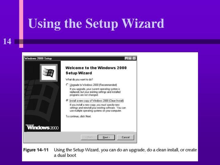 Using the Setup Wizard