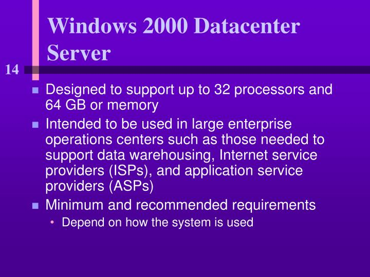 Windows 2000 Datacenter Server