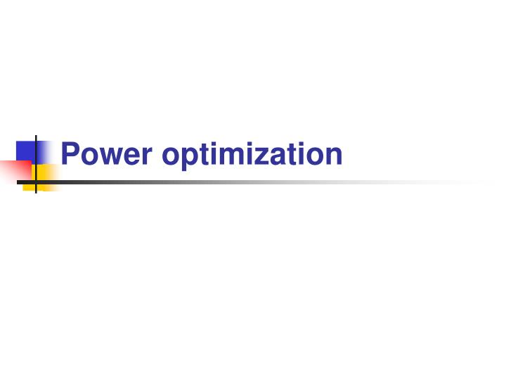 power optimization n.
