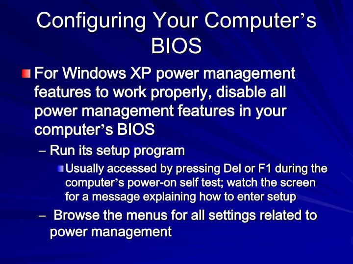 Configuring Your Computer