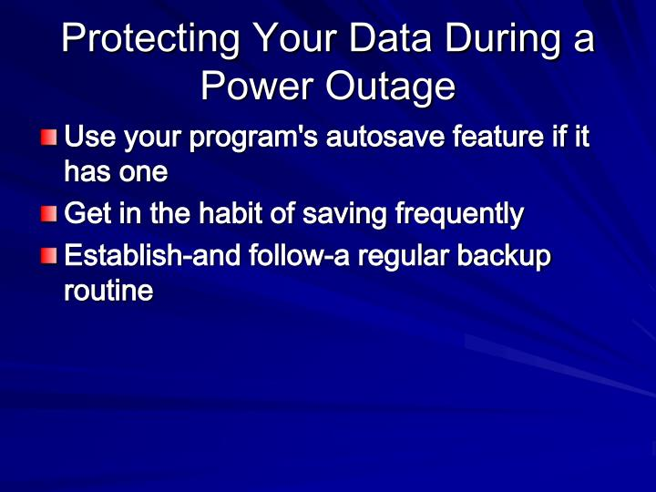 Protecting Your Data During a Power Outage