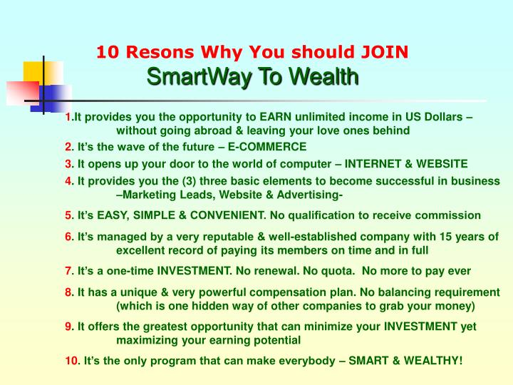 10 Resons Why You should JOIN