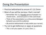 doing the presentation