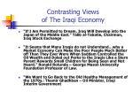 contrasting views of the iraqi economy