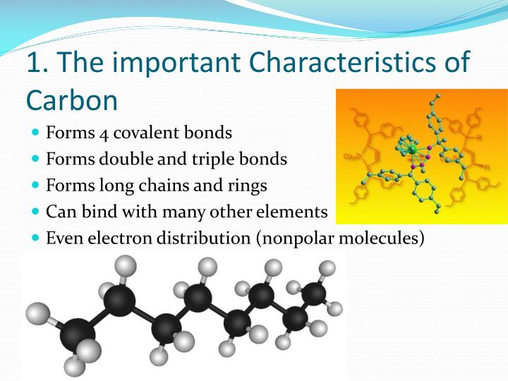 1 the important characteristics of carbon