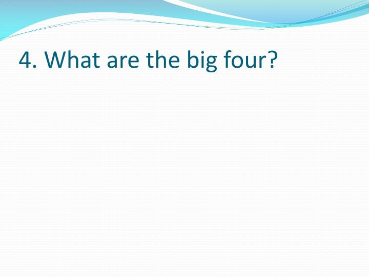 4. What are the big four?
