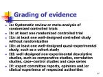 grading of evidence
