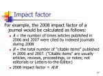 impact factor1