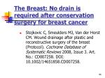 the breast no drain is required after conservation surgery for breast cancer
