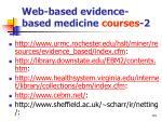 web based evidence based medicine courses 2